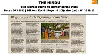 Blog Express starts its journey across State