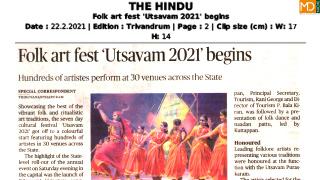 Folk art fest 'Utsavam 2021' begins