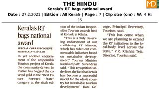 Kerala's RT bags national award