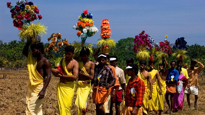 Kavadiyattam - a colourful ritual art prevalent in the Subramanya temples