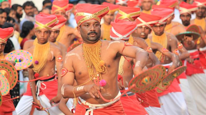 Velakali - A martial dance is performed by men