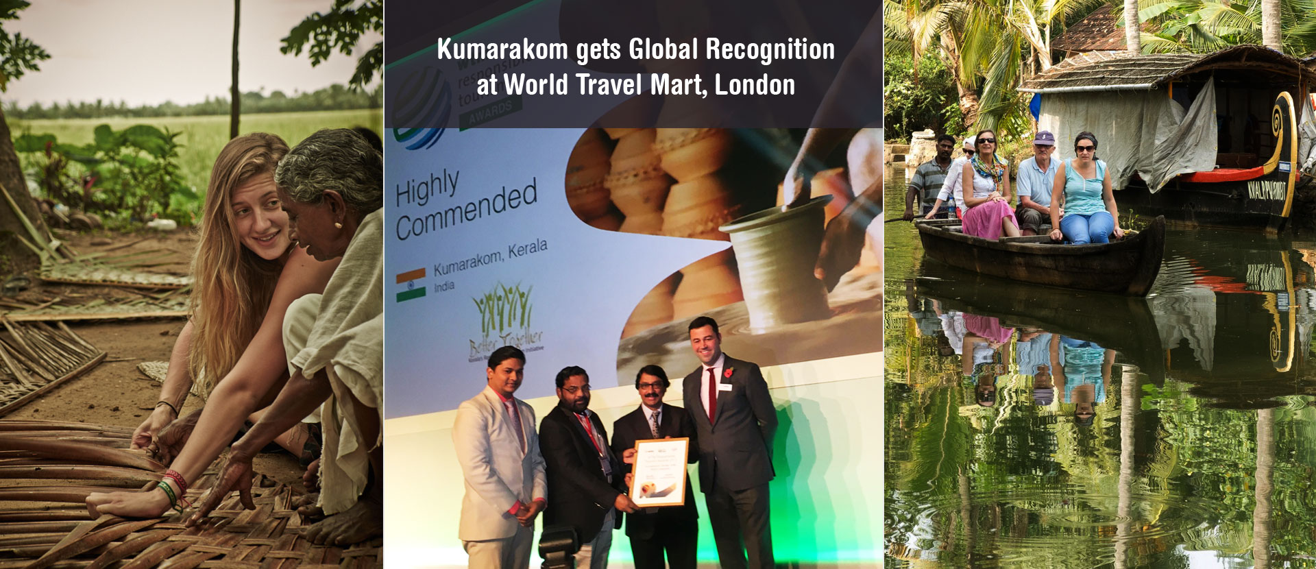 Kumarakom gets Global Recognition at World Travel Mart, London