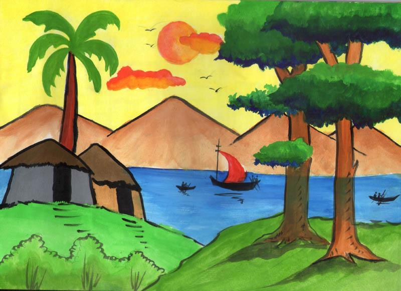 Painting by A Sri Vaishnavi