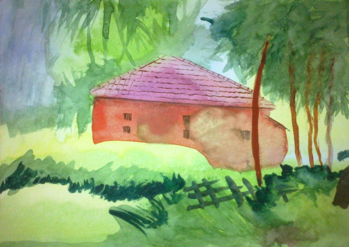 Painting by Joel P. Roy