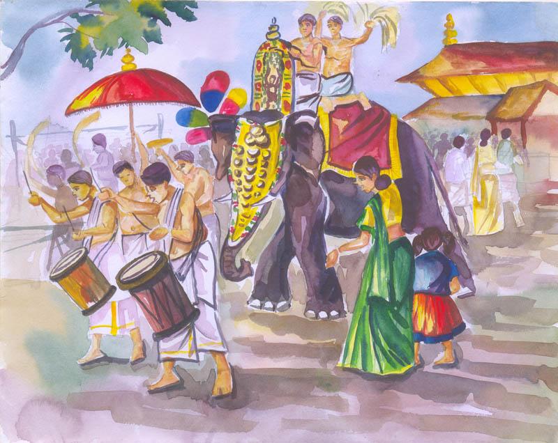 Painting by Madhurima Pradeep