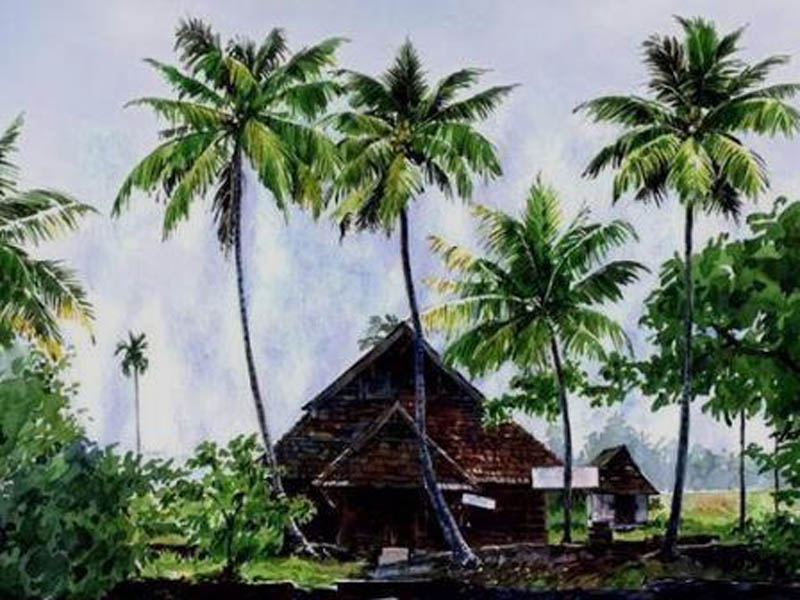 Painting by samuel gnanamuttu