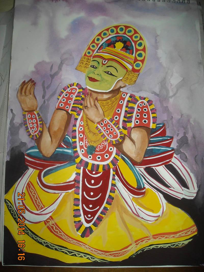 Painting by Tribedi Tanaya Das