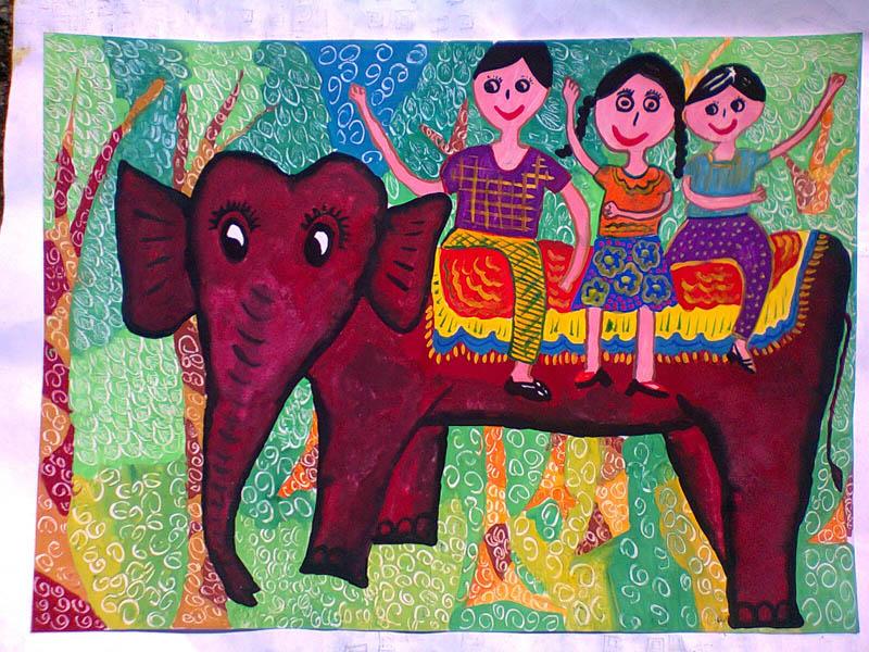 Painting by Vojitha Heshan Herat