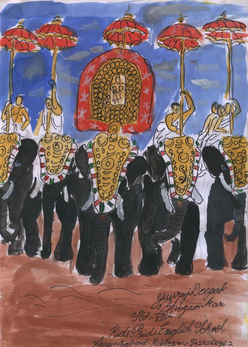 Painting by YUVRAJ DEEPAK BHOGAONKAR