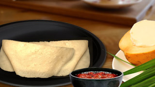 Karikku Dosa or Tender Coconut Pancake