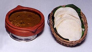 Meen Pathiri and Kozhi Varutharacha Curry