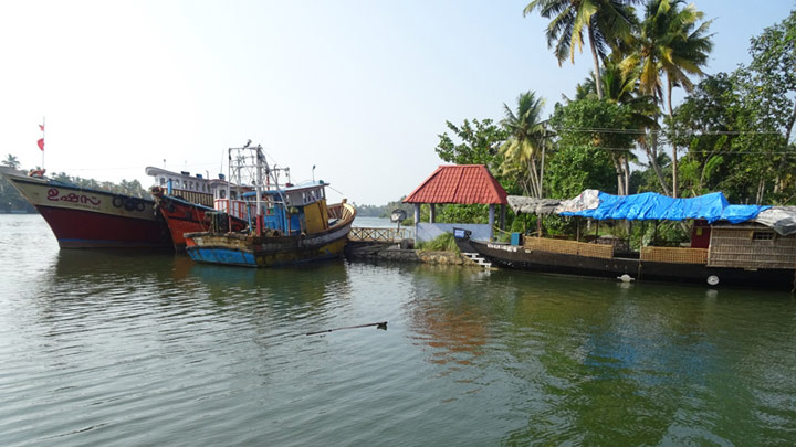 Alumkadavu, the destination for watching houseboat making at Kollam