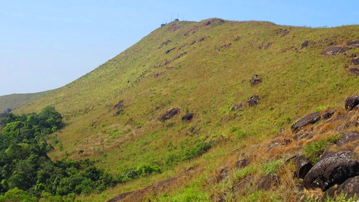 Kannadipara - the highest peak in Ilaveezhapoonchira in Kottayam
