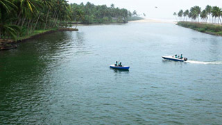 Kappil Beach and Backwaters in Varkala, Thiruvananthapuram