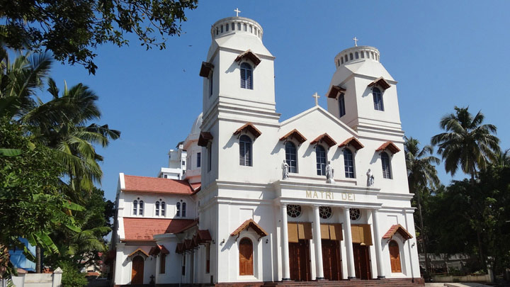 Mother of God Church - the headquarters of Roman Catholic congregation in Malabar