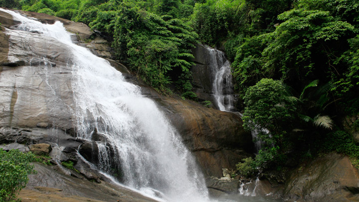 Thusharagiri Waterfalls - a spot known for its trekking trails in Kozhikode
