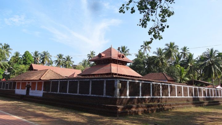 Trichambaram Temple, where Lord Krishna is in ferocious posture