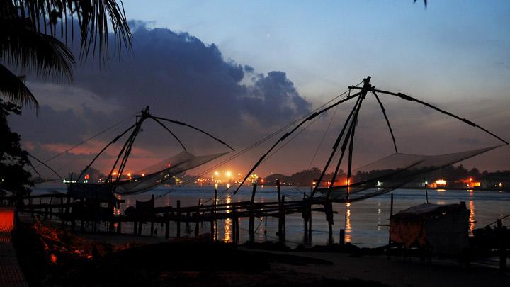 Vasco da Gama Square - best place to watch Chinese Fishing Nets, Fort Kochi, Ernakulam