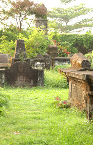 The Dutch Cemetery in Ernakulam