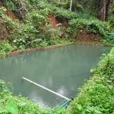 A pond for irrigation inside the farm