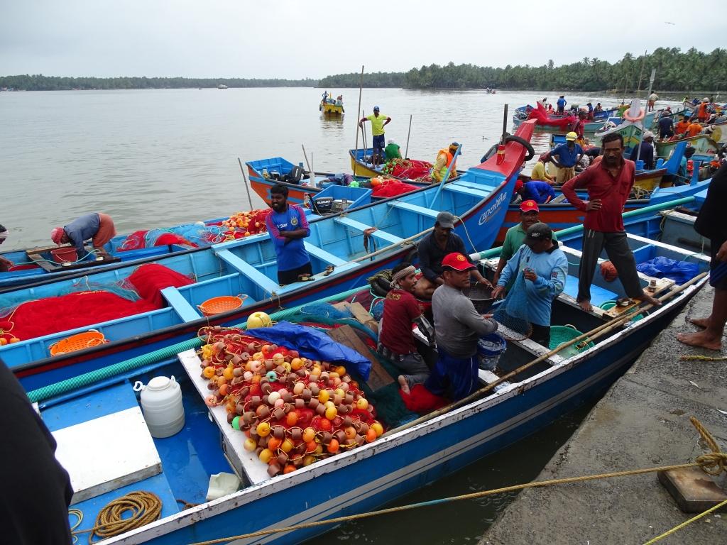 Fishing boat at Cheruvathoor Fishing Harbour