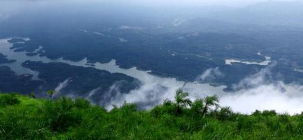 Ilaveezhapoonchira –a  floral bund sans leaves, Valley, Kottayam, Trekking destination, Kerala, India
