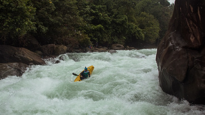 Rafting on Tejaswini River, Kannur, Kerala, India