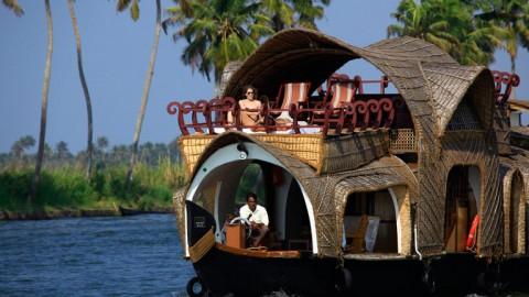 Cruise through Kerala in a houseboat