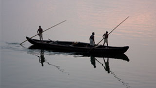 Country boat in Ashtamudi Lake, Kollam