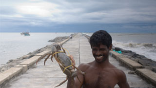 Fisherman with his catch