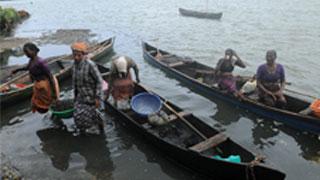 Fisherwomen Unloading Clams