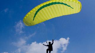 Paragliding at Wagamon, Idukki