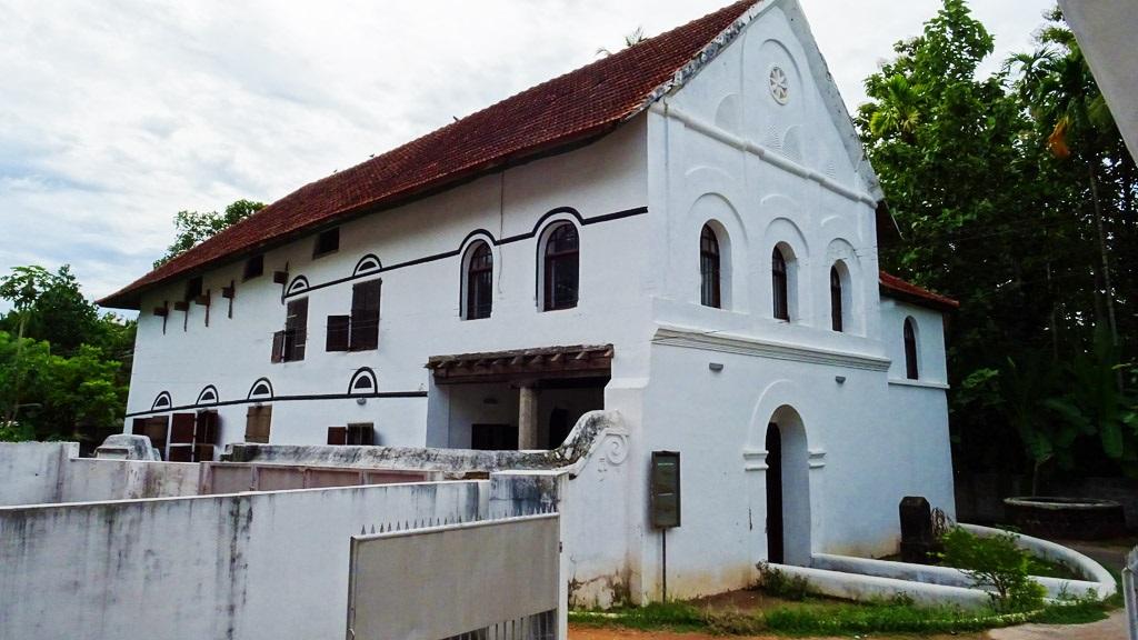 Side view of Chendamangalam Synagogue