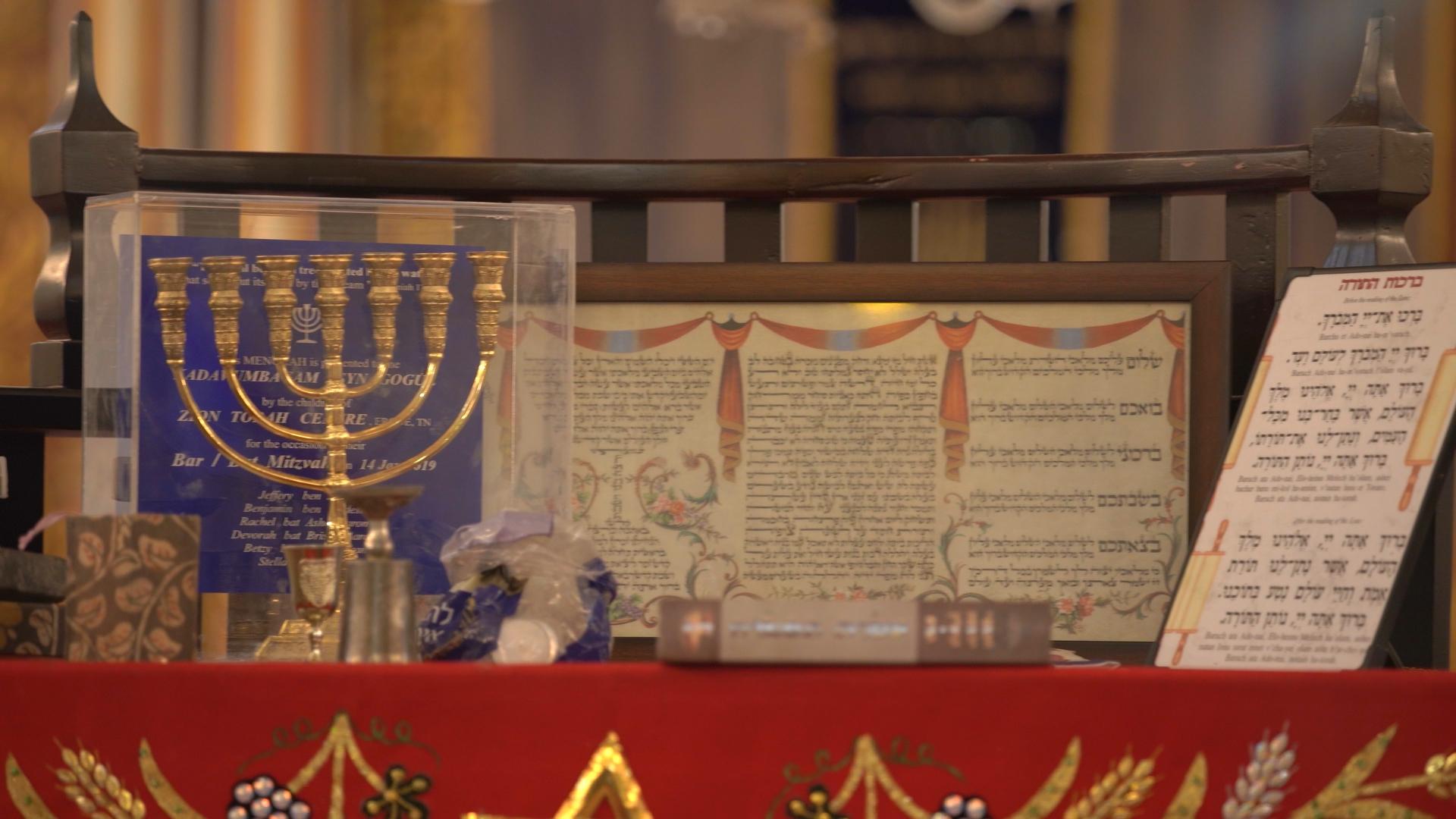 Bema at Kadavumbhagam Synagogue