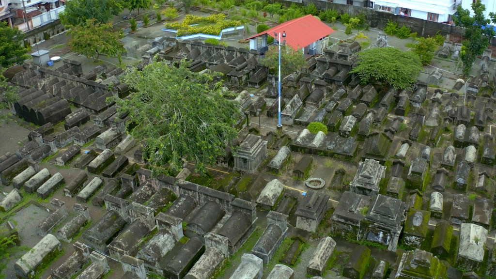 Top view of Jewish Cemetery