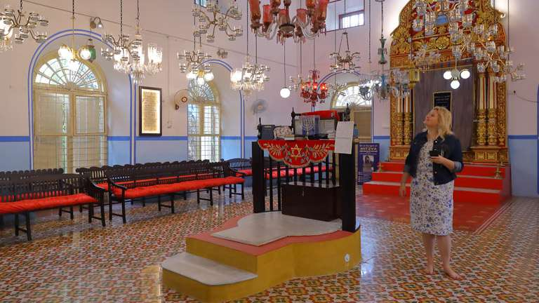 Interior of Chendamangalam Synagogue
