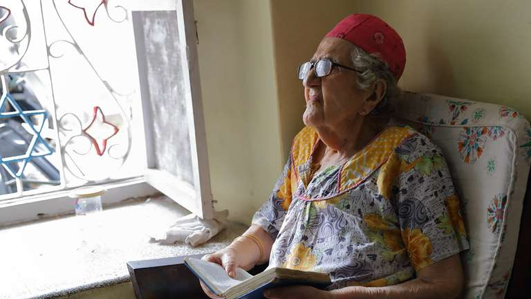 Sarah Cohen was the oldest Kerala Jew settled at Jewish Community in Mattancherry