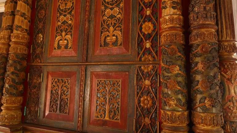 Interior of Chennamangalam Synagogue