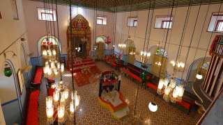 Interior of Kadavumbhagam Synagogue, Ernakulam