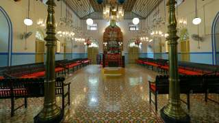 Interior of Kadavumbhagam Synagogue at Ernakulam
