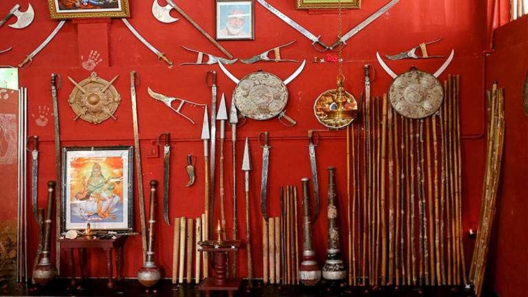 Folk art, History and Kalari