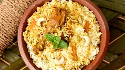 Plats de riz dans la cuisine du Kerala