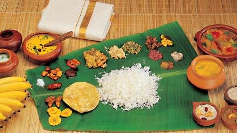 Sadya - la fiesta vegetariana tradicional