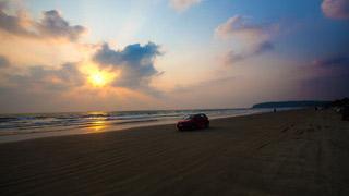 Muzhuppilangad Beach Sunset, Kannur