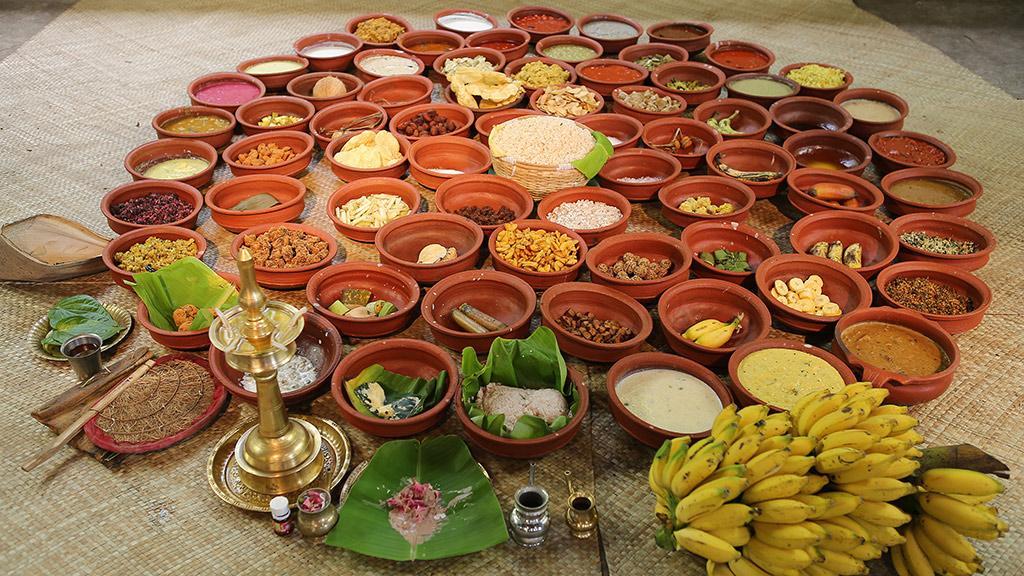 Aranmula Vallasadya dishes