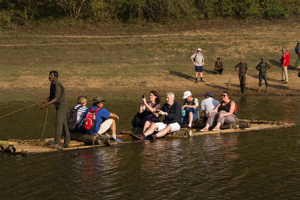 Bamboo rafting at Periyar