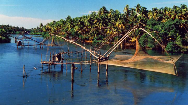 Chinese fishing nets at Kumbalangi
