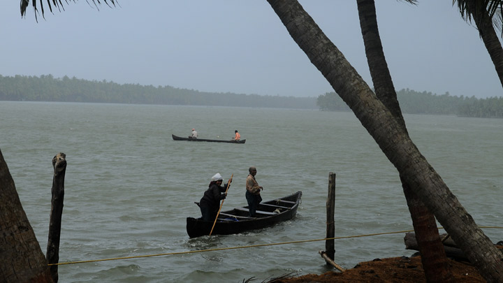 Scenic backwater stretch of Kasaragod