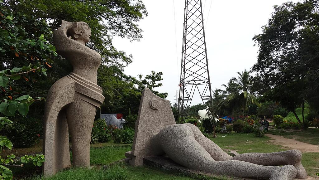 Statues inside Veli Tourist Village