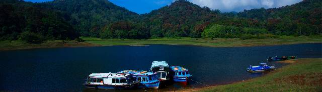 Boating at Thekkady